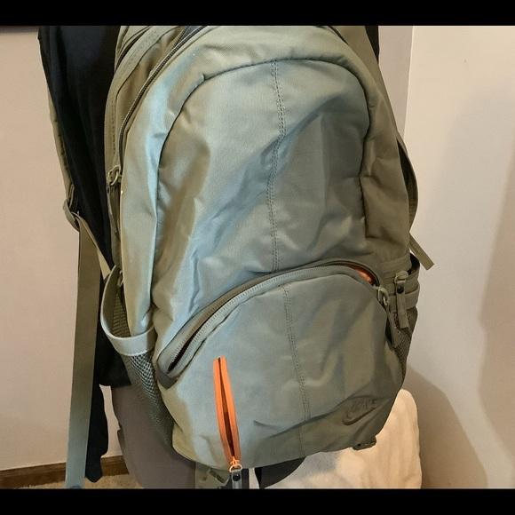 Nike Khaki and Orange Backpack adult size